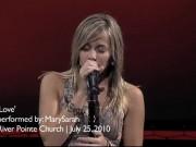 "Mary Sarah performing ""LOVE"""